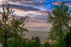 Παράβλεψη της Άγκυρας, Τουρκία μια θερινή ημέρα με τα σύννεφα Στοκ φωτογραφία με δικαίωμα ελεύθερης χρήσης
