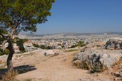 παράβλεψη της Αθήνας Στοκ φωτογραφία με δικαίωμα ελεύθερης χρήσης
