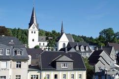 Παράβλεψη της πόλης Gummersbach, Γερμανία Στοκ Εικόνα
