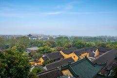 Παράβλεψη του ναού Jinshan σε Zhenjiang, Jiangsu Στοκ φωτογραφίες με δικαίωμα ελεύθερης χρήσης