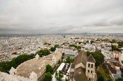Παράβλεψη του Παρισιού μια νεφελώδη ημέρα Στοκ Φωτογραφίες