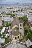 Παράβλεψη του Παρισιού μια νεφελώδη ημέρα Στοκ εικόνα με δικαίωμα ελεύθερης χρήσης