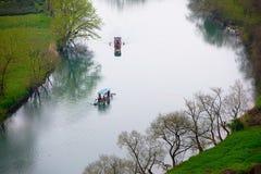 Παράβλεψη του ποταμού κόλπων φεγγαριών Στοκ Εικόνες