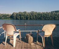 παράβλεψη του ποταμού Στοκ Εικόνες