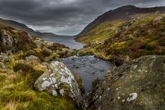 Παράβλεψη Llyn Cowlyd, Snowdonia Στοκ Εικόνες