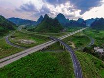 Παράβλεψη overpass εθνικών οδών στοκ εικόνες με δικαίωμα ελεύθερης χρήσης
