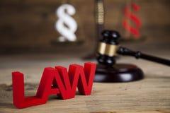 Παράγραφος, θέμα νόμου, σφύρα του δικαστή, ξύλινο gavel στοκ εικόνα με δικαίωμα ελεύθερης χρήσης
