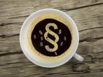 Παράγραφος στον καφέ στοκ φωτογραφία με δικαίωμα ελεύθερης χρήσης