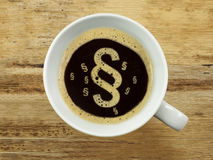 Παράγραφος του αφρού στον καφέ στοκ φωτογραφία με δικαίωμα ελεύθερης χρήσης