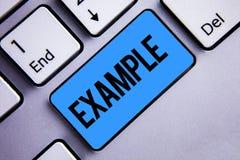 Παράδειγμα κειμένων γραψίματος λέξης Η επιχειρησιακή έννοια για το πρότυπο δειγμάτων απεικόνισης για να ακολουθήσει την εξήγηση ο Στοκ φωτογραφία με δικαίωμα ελεύθερης χρήσης