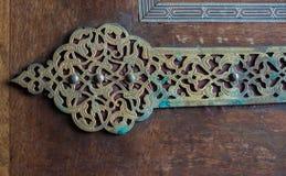 Παράδειγμα των οθωμανικών σχεδίων τέχνης στα μέταλλα Στοκ Εικόνες