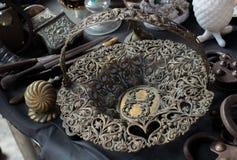 Παράδειγμα των οθωμανικών σχεδίων τέχνης στα μέταλλα Στοκ Εικόνα