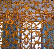 Παράδειγμα των οθωμανικών σχεδίων τέχνης στα μέταλλα Στοκ εικόνα με δικαίωμα ελεύθερης χρήσης