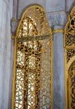 Παράδειγμα των οθωμανικών σχεδίων τέχνης στα μέταλλα Στοκ Φωτογραφίες