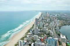 Παράδεισος Surfers, Gold Coast, Queensland, Αυστραλία εναέρια όψη στοκ φωτογραφίες με δικαίωμα ελεύθερης χρήσης