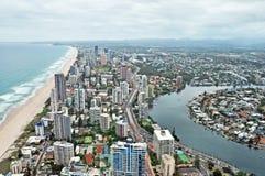 Παράδεισος Surfers, Gold Coast, Queensland, Αυστραλία εναέρια όψη στοκ εικόνες με δικαίωμα ελεύθερης χρήσης