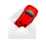 παράδοση αυτοκινήτων διανυσματική απεικόνιση