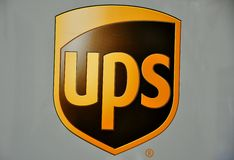 παράδοση UPS εμπορικών σημάτω& Στοκ εικόνες με δικαίωμα ελεύθερης χρήσης