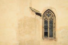 Παράθυρα ενός παλαιού γοτθικού καθεδρικού ναού, Sibiu, Ρουμανία Στοκ Εικόνα