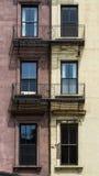 Παράθυρα και μπαλκόνια, Βοστώνη Στοκ Εικόνες