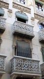 Παράθυρα και μπαλκόνι-Antequera Ανδαλουσία-ΙΣΠΑΝΙΑ Στοκ Φωτογραφίες