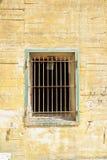Παράθυρα με τους φραγμούς στην αποθήκη του Χίτλερ σε Margival, Aisne, Picardie στο βόρειο τμήμα της Γαλλίας Στοκ Φωτογραφίες