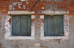 Παράθυρα σε Giudecca Στοκ Εικόνες