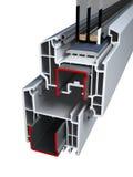 Παράθυρα σχεδιαγράμματος PVC με την τριπλή τοποθέτηση υαλοπινάκων Στοκ φωτογραφίες με δικαίωμα ελεύθερης χρήσης