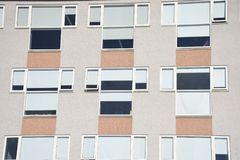 Παράθυρα σύγχρονο PVC του Ρέικιαβικ, Ισλανδία Στοκ φωτογραφία με δικαίωμα ελεύθερης χρήσης