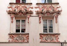 Παράθυρα του Ίνσμπρουκ, Αυστρία, Τύρολο Στοκ Εικόνες