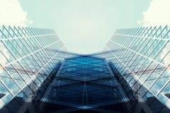 Παράθυρα του επιχειρησιακού γραφείου ουρανοξυστών, εταιρικό κτήριο cit Στοκ Εικόνα