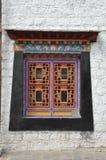 Παράθυρα του παλατιού του Θιβέτ Στοκ Εικόνες