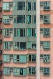 Παράθυρα των apartmens στο Χονγκ Κονγκ, Κίνα Στοκ Εικόνα
