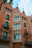 Παράθυρα Casa Terrades στη διαγώνιος Avinguda της Βαρκελώνης Στοκ Εικόνα