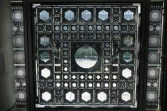Παράθυρα ` Institut du Monde Arabe ` από το εσωτερικό Στοκ Φωτογραφίες