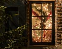 παράθυρο έκδοσης ράστερ απεικόνισης Χριστουγέννων Στοκ Φωτογραφία