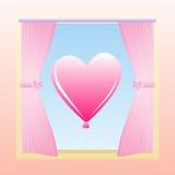 παράθυρο αγάπης Στοκ εικόνα με δικαίωμα ελεύθερης χρήσης