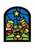 παράθυρο βασιλιάδων Χρι&sigma Στοκ φωτογραφία με δικαίωμα ελεύθερης χρήσης