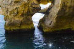 Παράθυρο βράχου, Valletta Μάλτα Στοκ Εικόνες