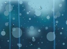 παράθυρο βροχής απελευ& Στοκ εικόνες με δικαίωμα ελεύθερης χρήσης