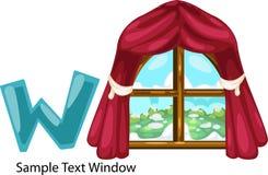 παράθυρο γραμμάτων W απεικό& Στοκ Φωτογραφίες
