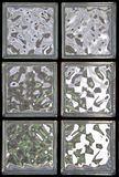 παράθυρο γυαλιού 2 τούβλου Στοκ εικόνα με δικαίωμα ελεύθερης χρήσης