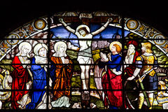 Παράθυρο γυαλιού λεκέδων της εκκλησίας της εκκλησίας του Άγιου Βασίλη, Αμπερντήν, Σκωτία Στοκ Εικόνες