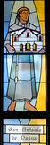 Παράθυρο γυαλιού του San Antonio de Πάδοβα (Άγιος Anthony της Πάδοβας) λεκιασμένο Στοκ Φωτογραφία