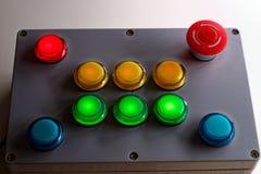 Παράθυρο ελέγχου κουμπιών ώθησης Στοκ Εικόνες
