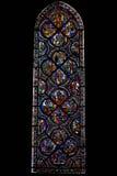 Παράθυρο Ευαγγέλιου του καθεδρικού ναού του Chartres, Γαλλία Στοκ Φωτογραφία