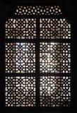Παράθυρο δικτυωτού πλέγματος διακοσμήσεων στην Ινδία Στοκ Φωτογραφία