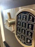 Παράθυρο κατάθεσης ασφάλειας με τα κουμπιά στοκ φωτογραφία