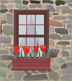 παράθυρο κιβωτίων Στοκ εικόνα με δικαίωμα ελεύθερης χρήσης