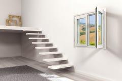 παράθυρο κλίμακας Στοκ Φωτογραφία